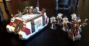 Immolator with a Squad of Dominions and a Canoness