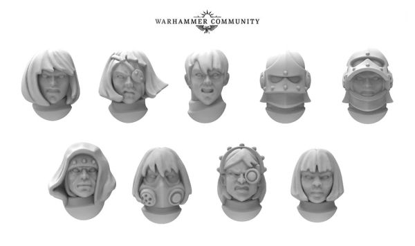New helmets for the Adeptus Sororitas from the NOVA Open 2018